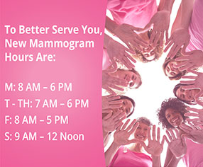 Breast Cancer Awareness | New Hours