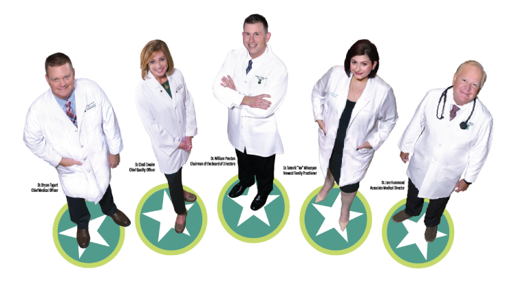 Five star doctors at Jackson Clinic